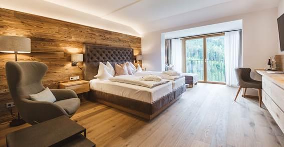 Wohn- und Schlafbereich vom Doppelzimmer Sonnengruß