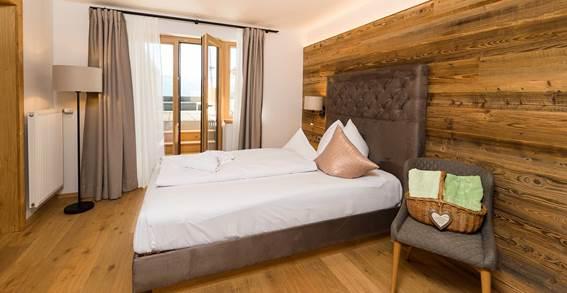 Wohn- und Schlafbereich vom Einzelzimmer Alpenzauber